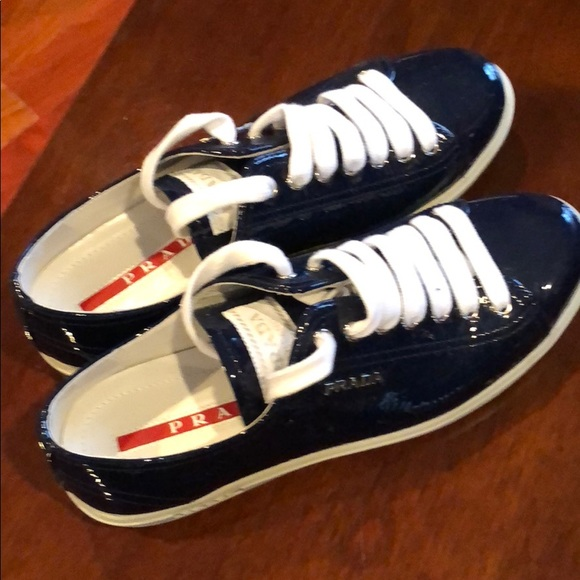 1f56eeb4 Prada women's sneakers.Patented leather navy blue